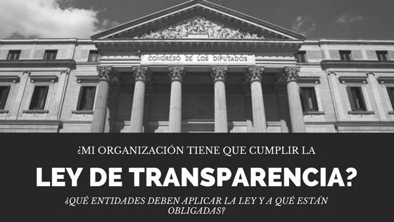 La ley de transparencia en las ONG