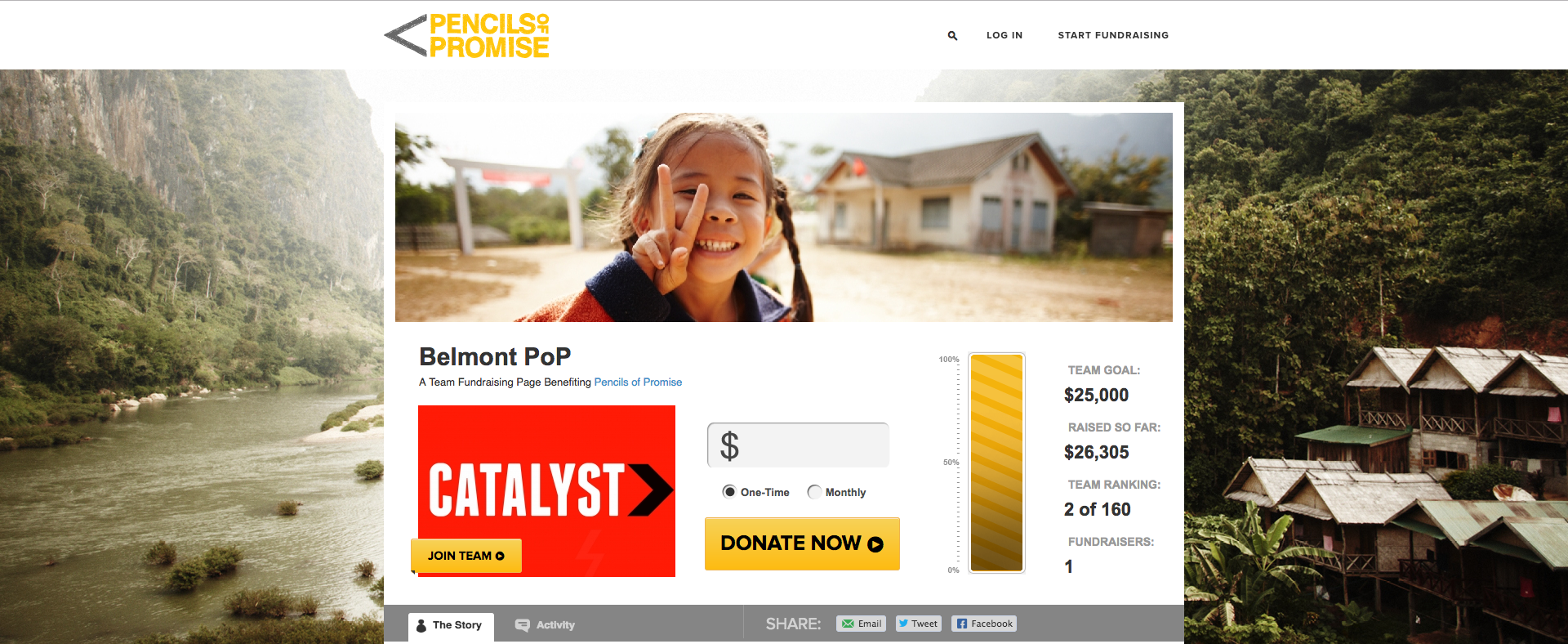 Pencils of Promise Peer-to-Peer Fundraising