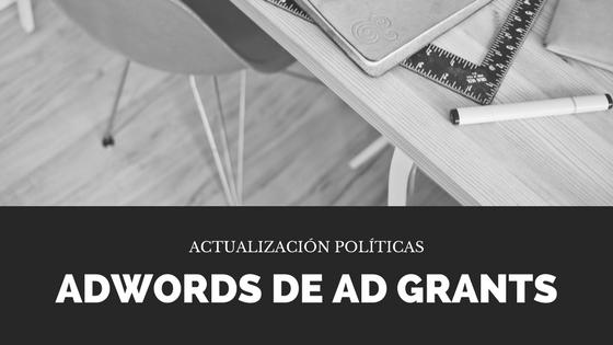 Actualización Programa Google Ad Grants