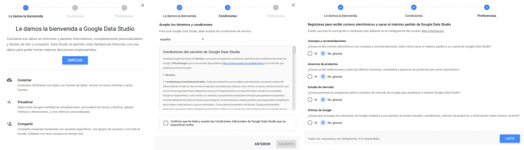 Comenzando con Google Data Studio