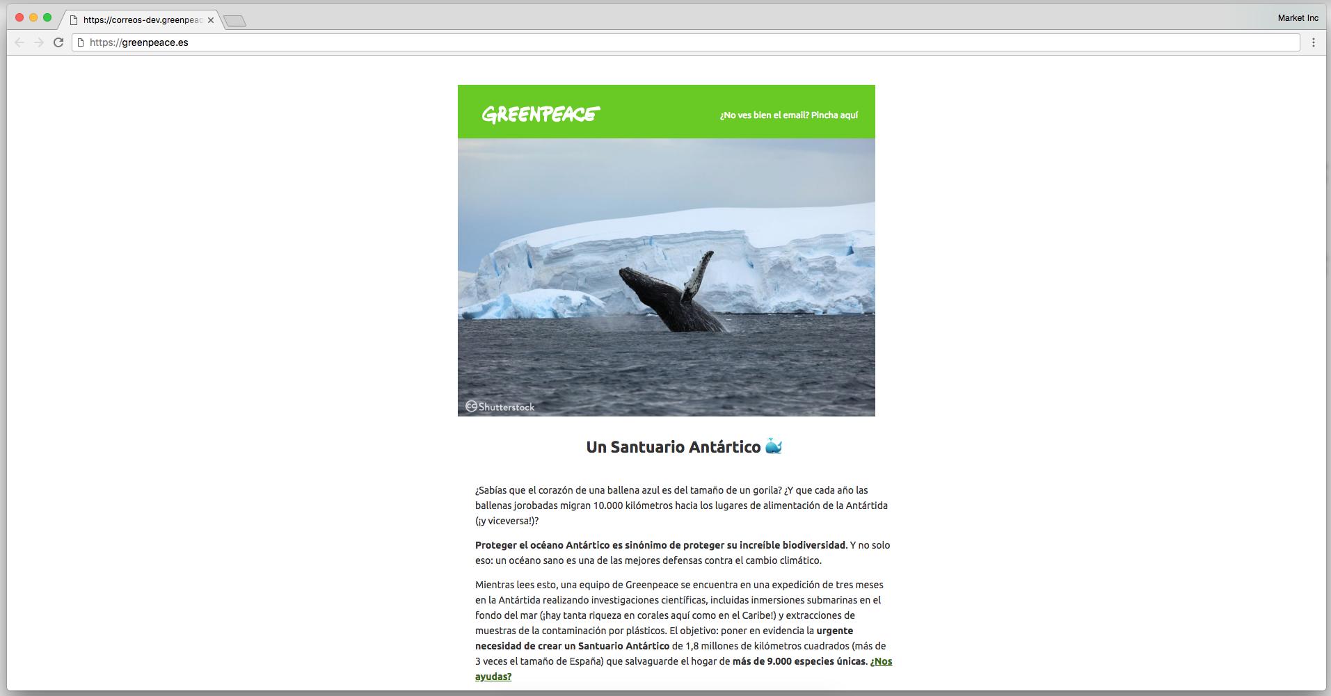 Un Santuario Antártico - Iniciativa de Greenpeace